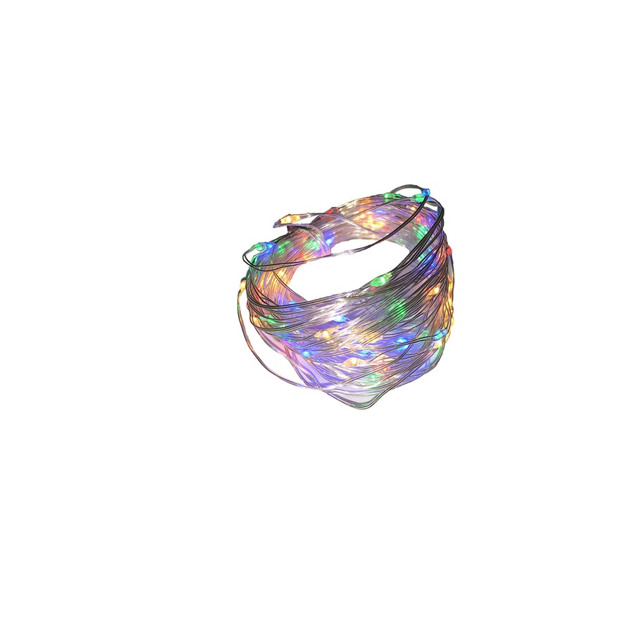 Shop Holiday Living 30-Count 9.4-ft Constant Multicolor Micro LED Battery-Operated Indoor ...