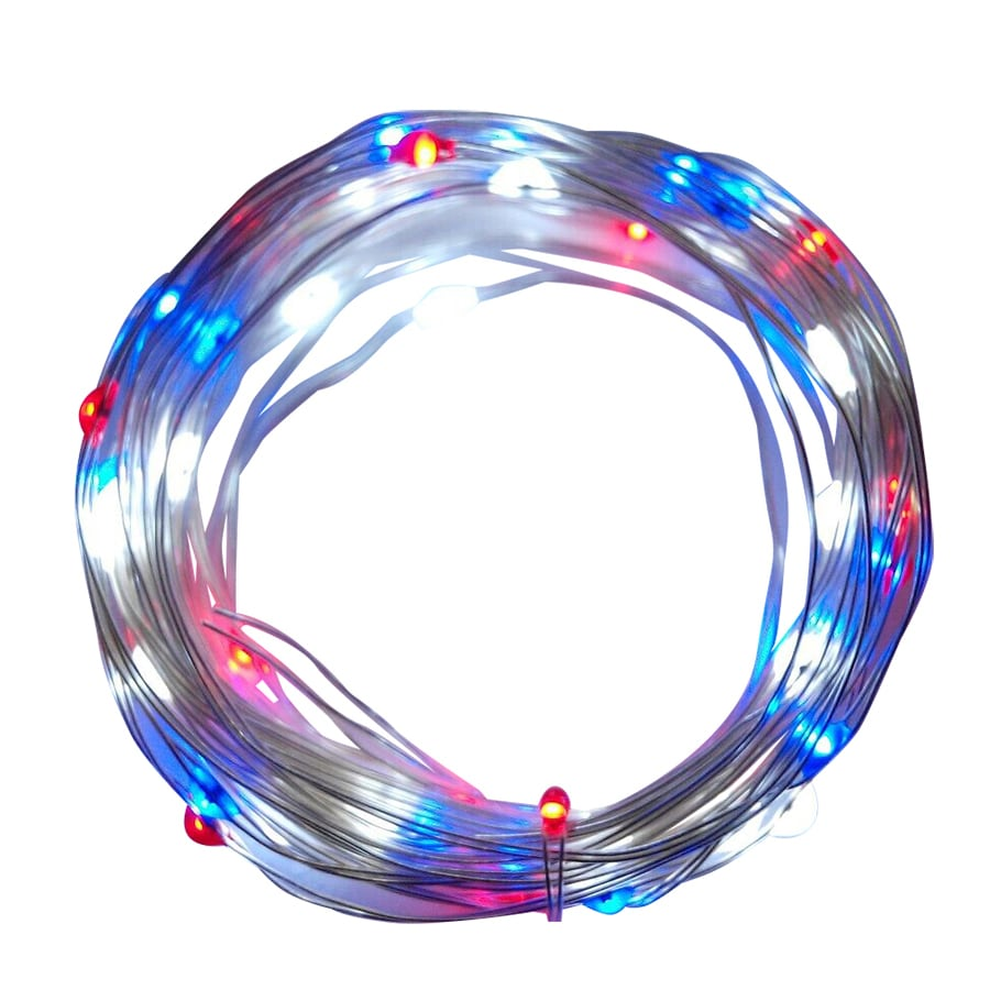Rope Lights Sensory: 19.35-ft Multicolor LED Battery-Operated Fourth Of July