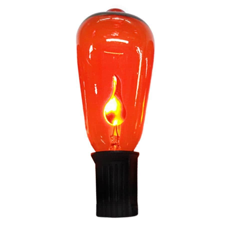 shop holiday living 10-count 9 feet-ft flickering orange edison