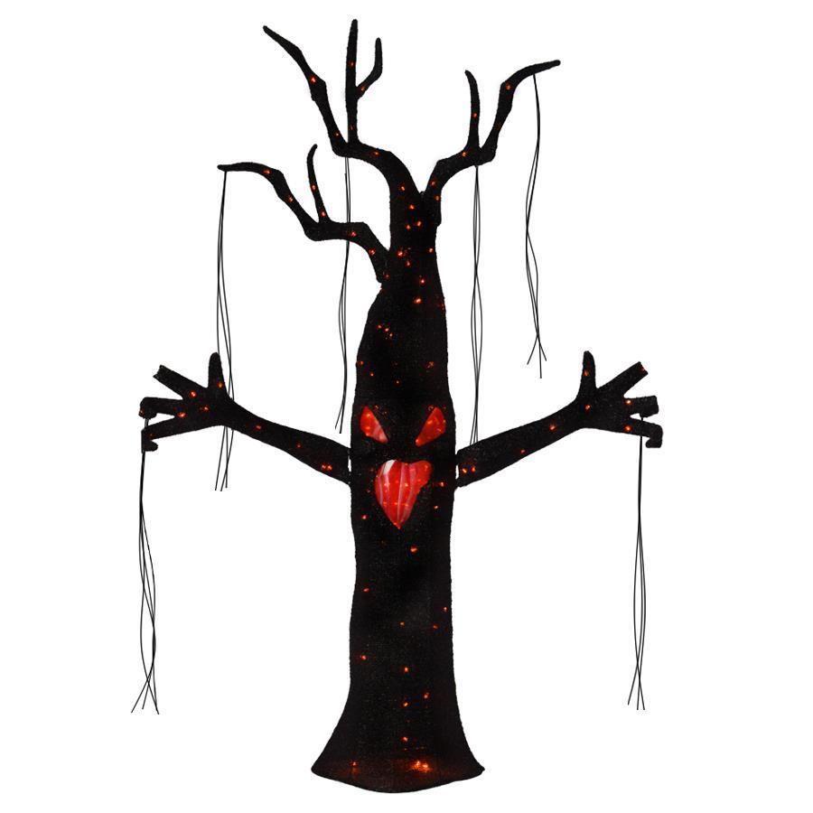 Holiday Living Animatronic Pre-Lit Tree Sculpture with Multi-Function Color Changing LED Lights