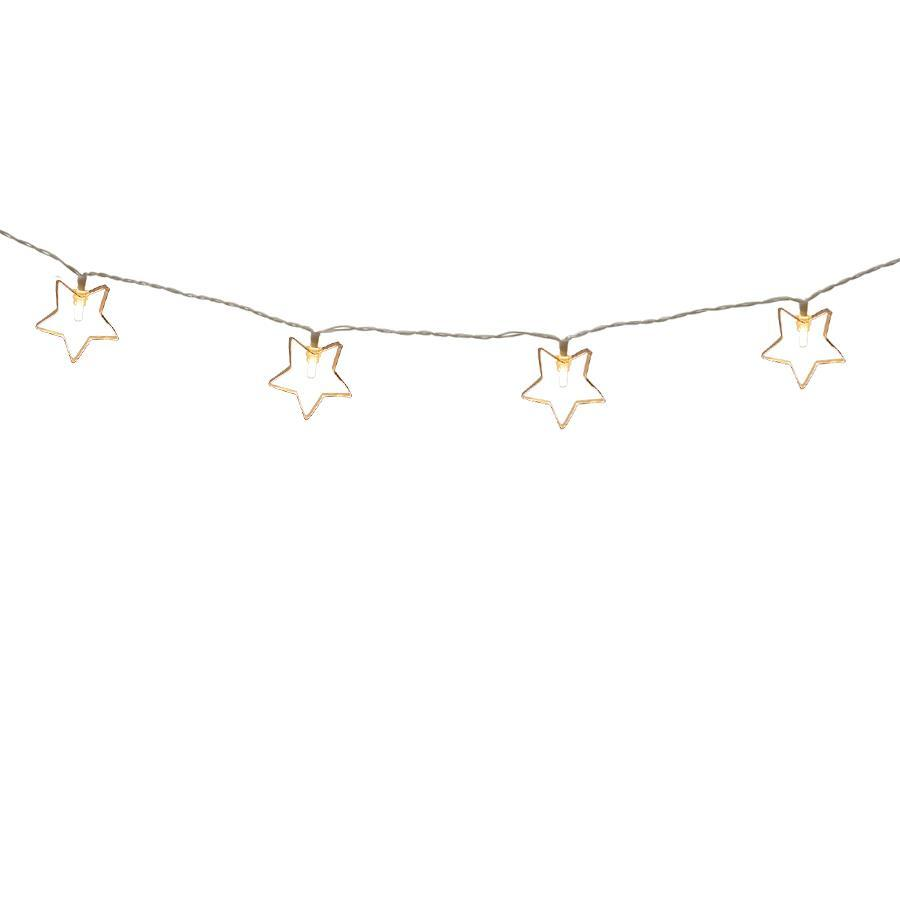 Holiday Living 10-Count 2.95-ft Constant Warm White  Micro Led Battery-Operated Indoor Christmas String Lights Timer