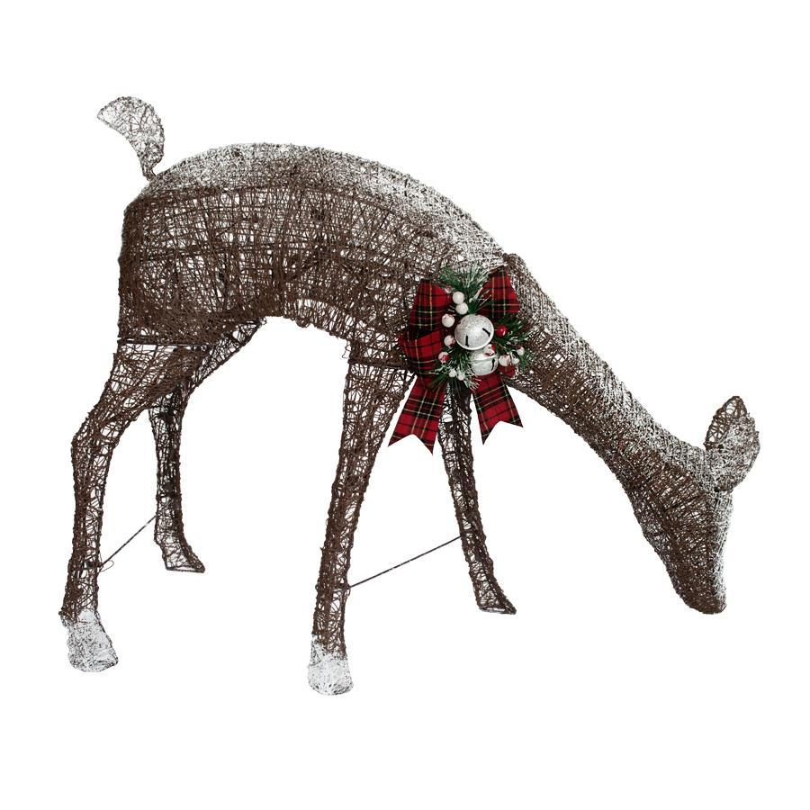 Holiday Living 2.41-ft Freestanding Reindeer with Constant White Incandescent Lights