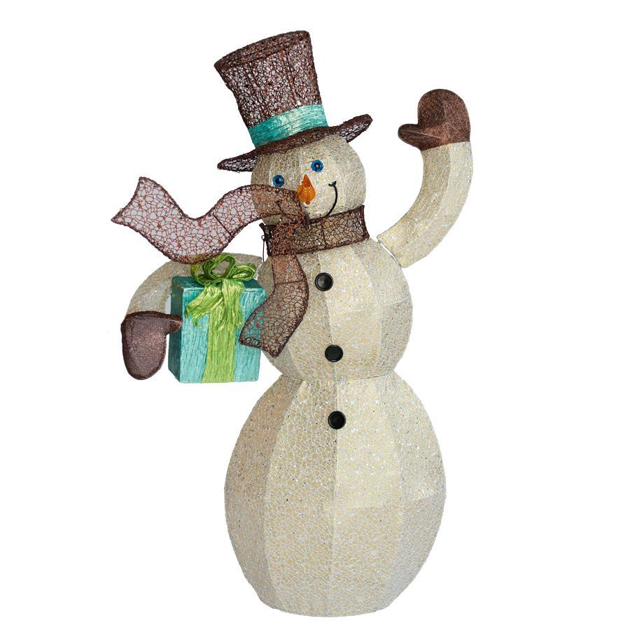Holiday Living Lighted Snowman Sculpture with Constant Clear White Incandescent Lights