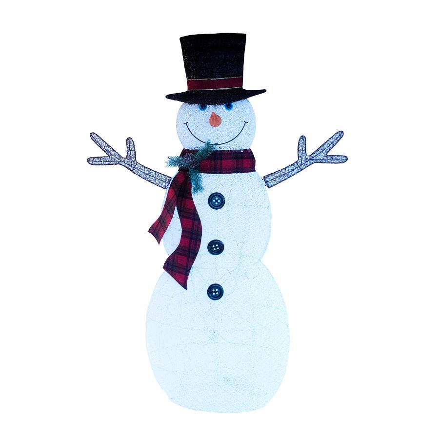 Holiday Living Lighted Snowman Sculpture With Constant