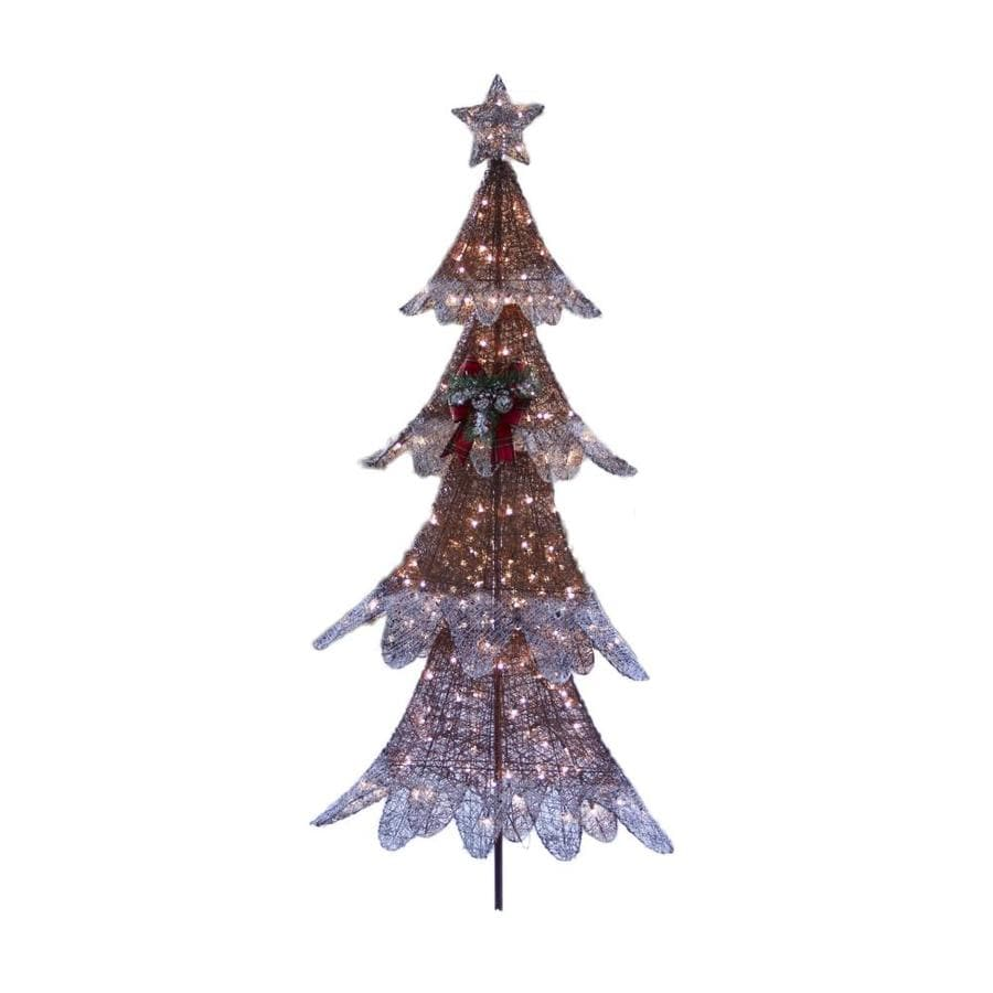 Holiday Living 72-in Tree Sculpture with Clear Incandescent Lights ...