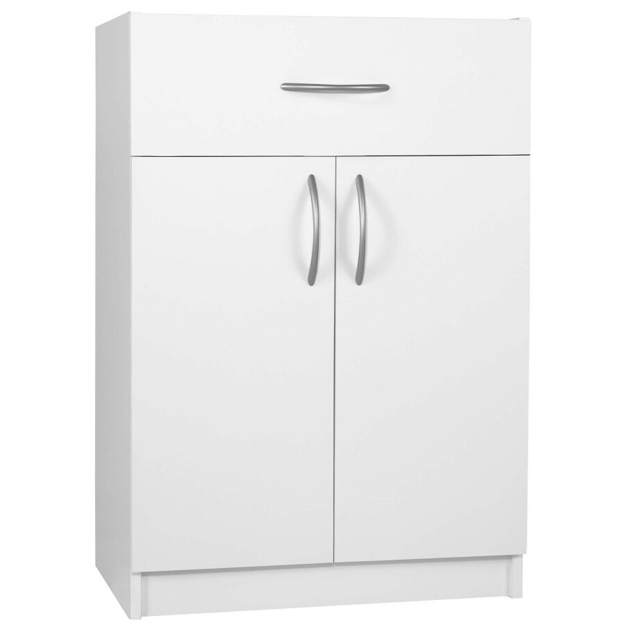 Ameriwood 24-in W x 35-in H x 17-in D White Base Cabinet