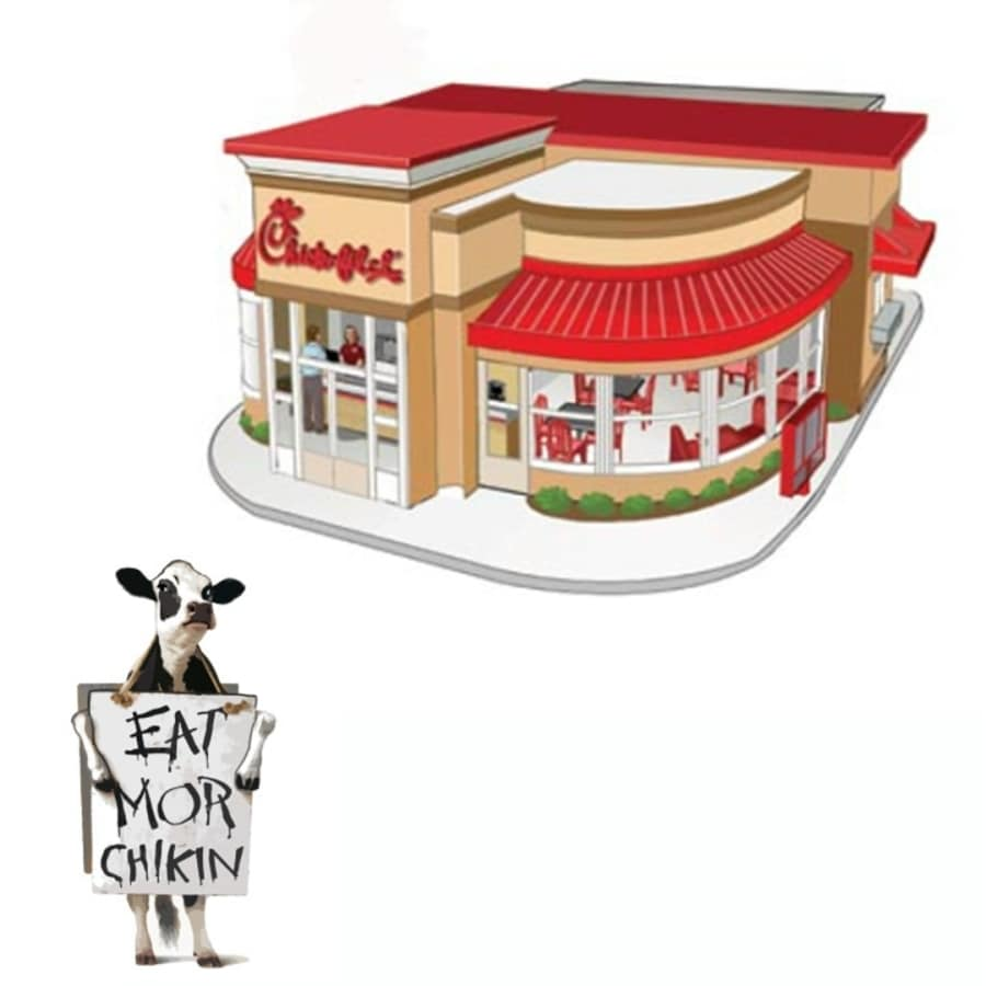 Shop Chick-Fil-A Porcelain Restaurant with Cow Accessory at Lowes.com