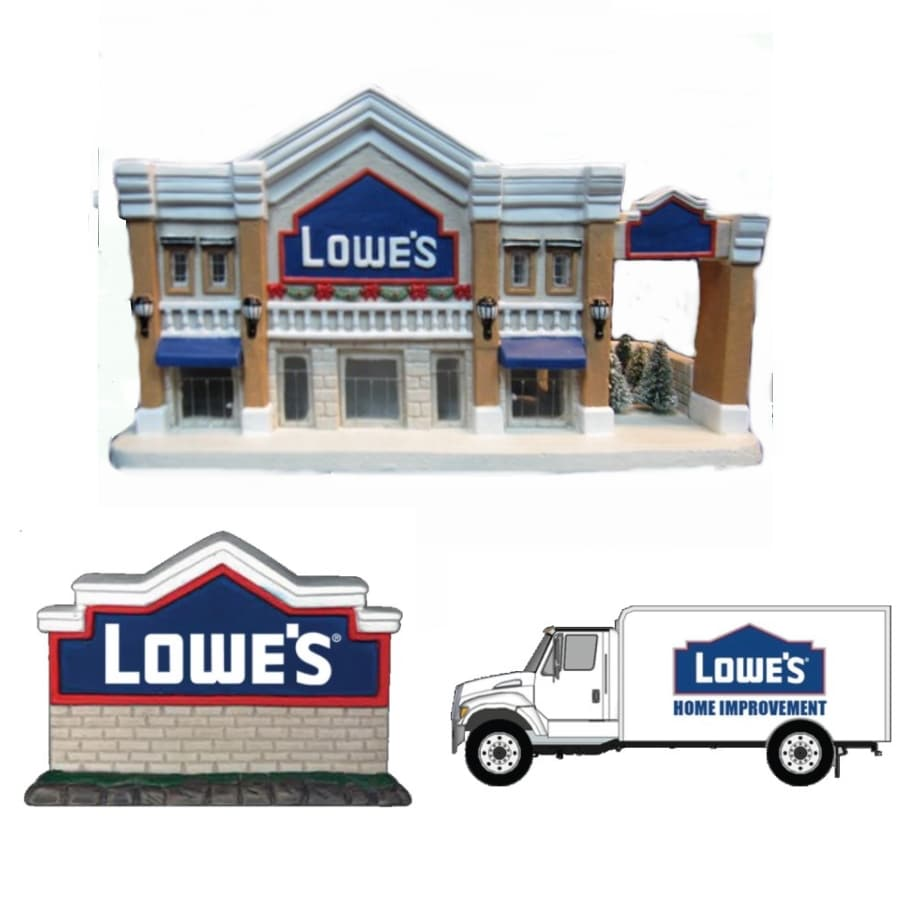 christmas eve lowes porcelain building with sign truck accessories - Lowes Christmas Hours