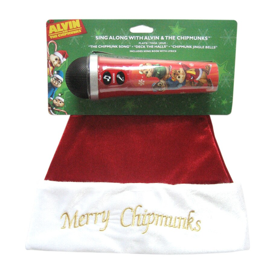 Alvin and The Chipmunks Musical Christmas Santa Hat and Microphone