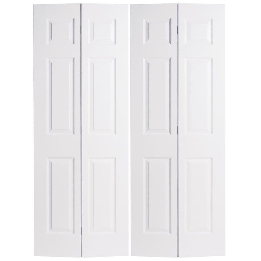 Interior glass doors lowes - Reliabilt Hollow Core 6 Panel Bi Fold Closet Interior Door Common 48