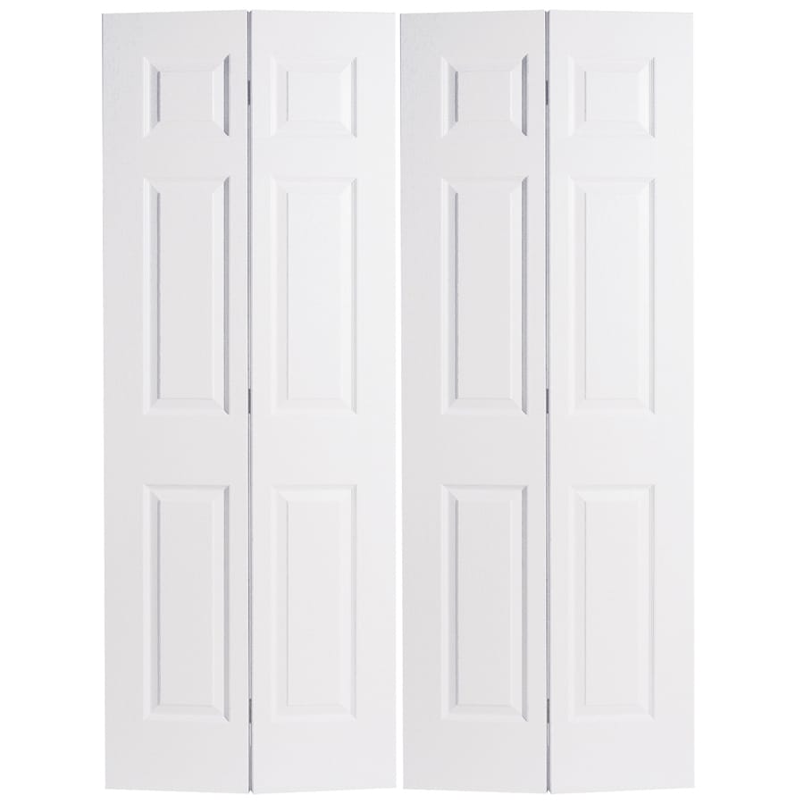 How to install bifold closet doors - Finished Installation Of Closet Door Interior Doors At Lowes