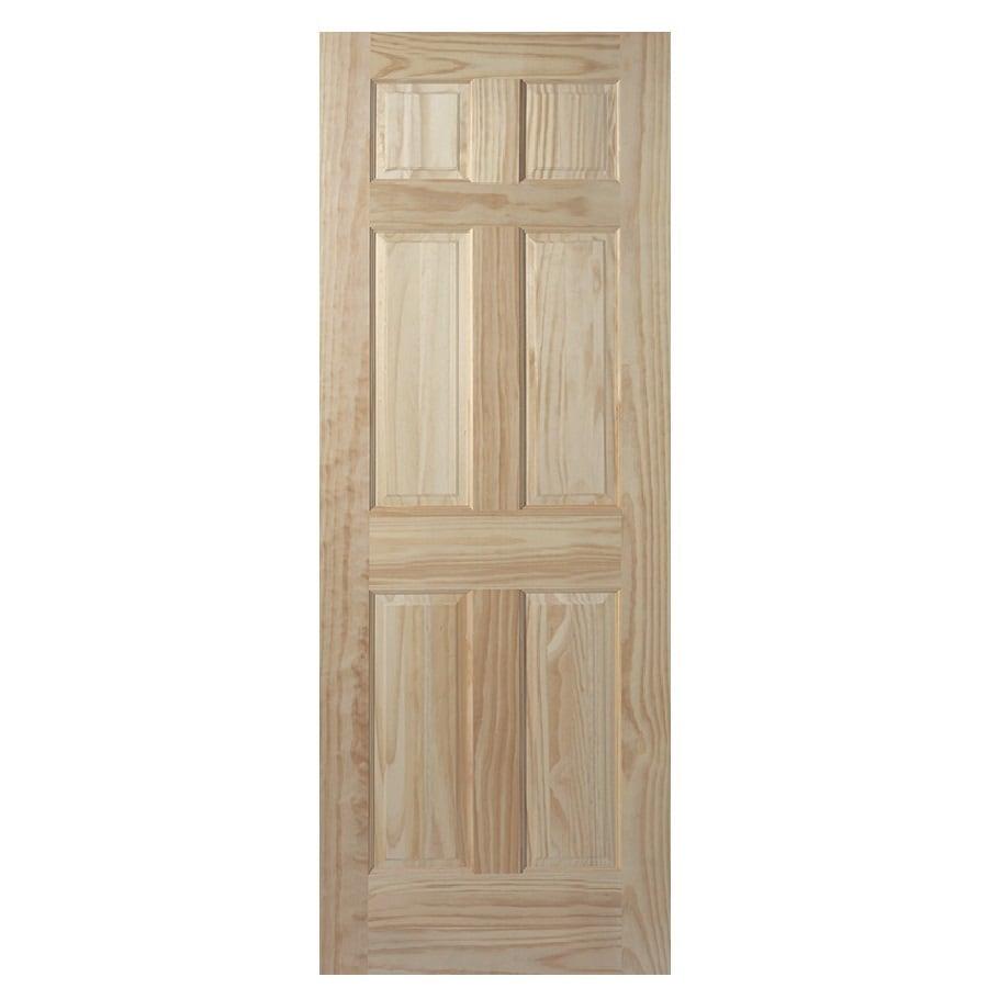 """ReliaBilt 30""""W x 78""""H 6-Panel Wood Interior Door Slab"""