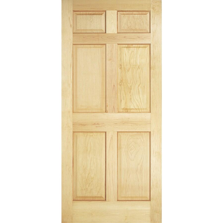 ReliaBilt Classics 6 Panel Pine Slab Interior Door (Common: 36 In X