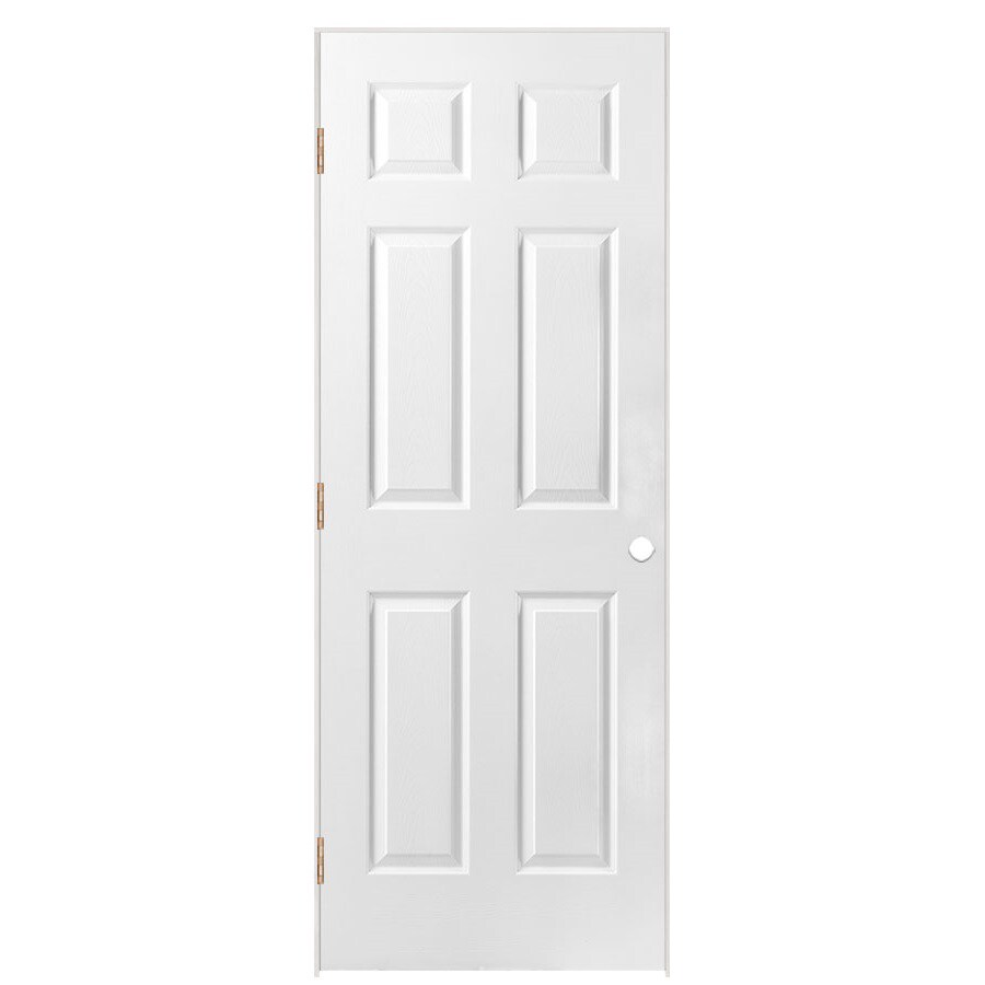 "ReliaBilt 30""W x 78""H 6-Panel Hollow Composite Right Hand Interior Single Prehung Door"