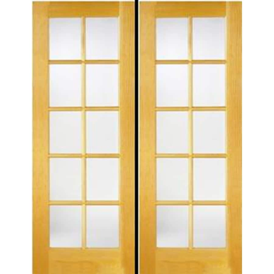 ReliaBilt Prehung Solid Core 10-Lite Clear Glass Pine French Interior Door (Common: 48-in x 80-in; Actual: 49.5-in x 81.5-in)