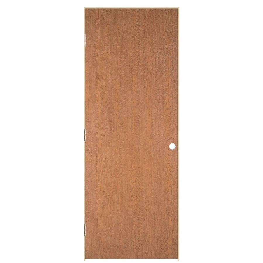 ReliaBilt Prehung Hollow Core Flush Lauan Interior Door (Common: 30-in x 80-in; Actual: 31.5-in x 81.5-in)