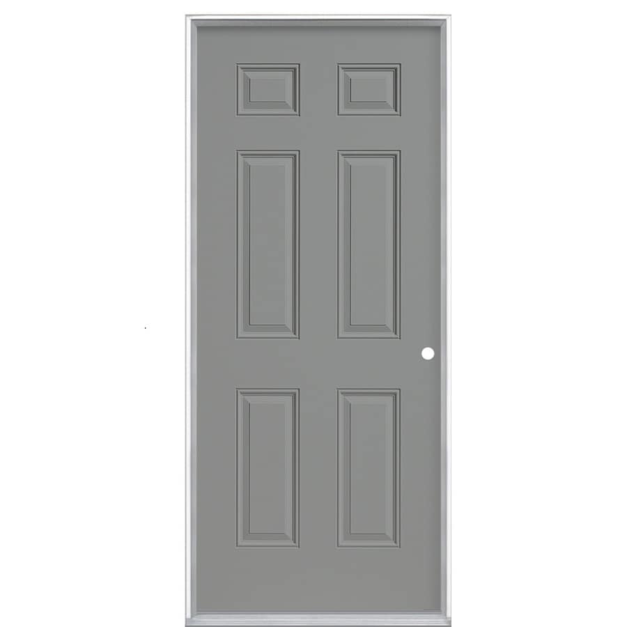 ProSteel Left Hand Inswing Primed Steel Entry Door With Insulating Core  (Common: 36