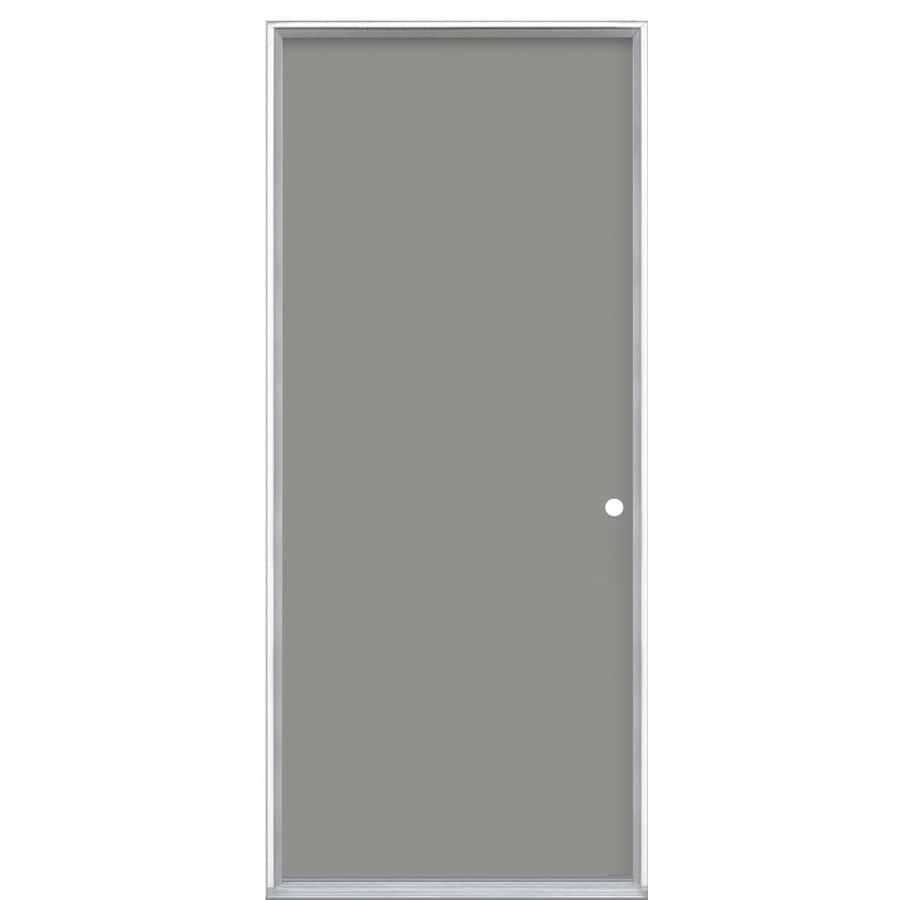 ProSteel Flush Insulating Core Left-Hand Inswing Steel Primed Prehung Entry Door (Common: 36-in x 80-in; Actual: 37.5-in x 81.5-in)