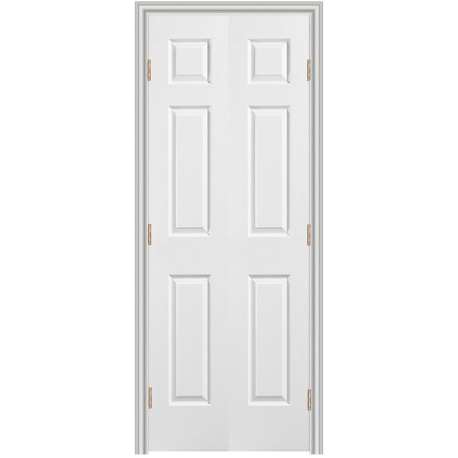 Reliabilt 36 6 panel hollow core composite reversible - 6 panel prehung interior double doors ...
