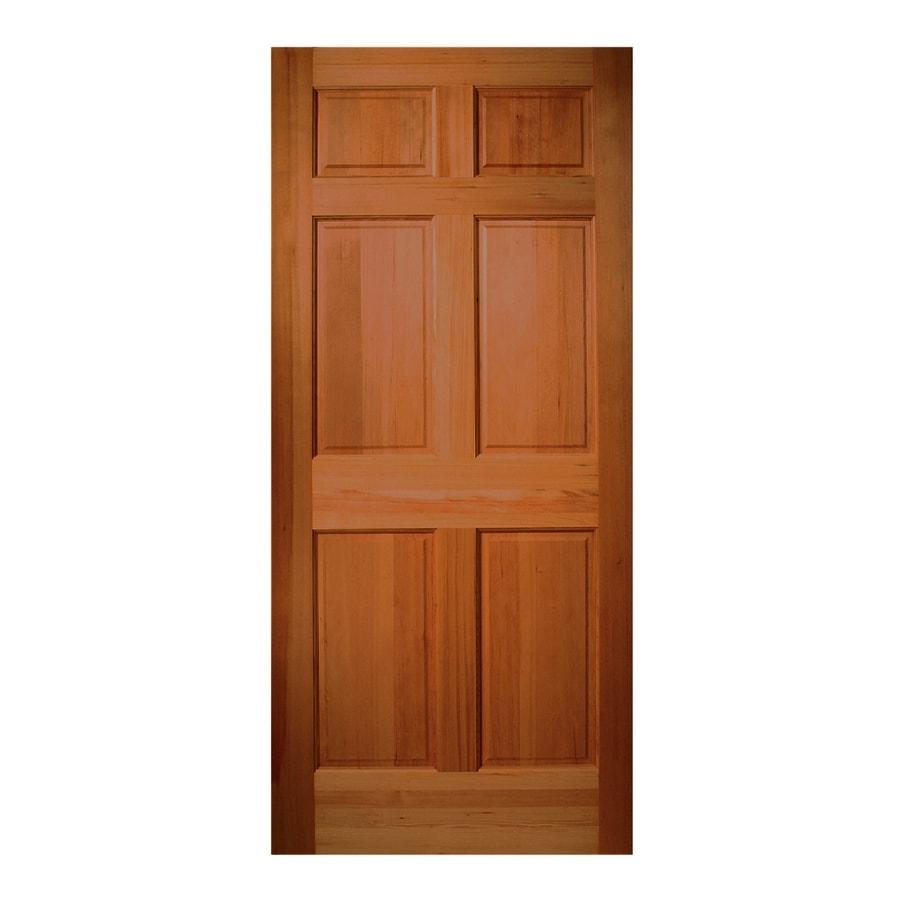 Pleasing Shop Reliabilt 6 Panel Solid Wood Core Hem Fir Unfinished Slab Entry Door Common 32 In X 80 In Door Handles Collection Olytizonderlifede