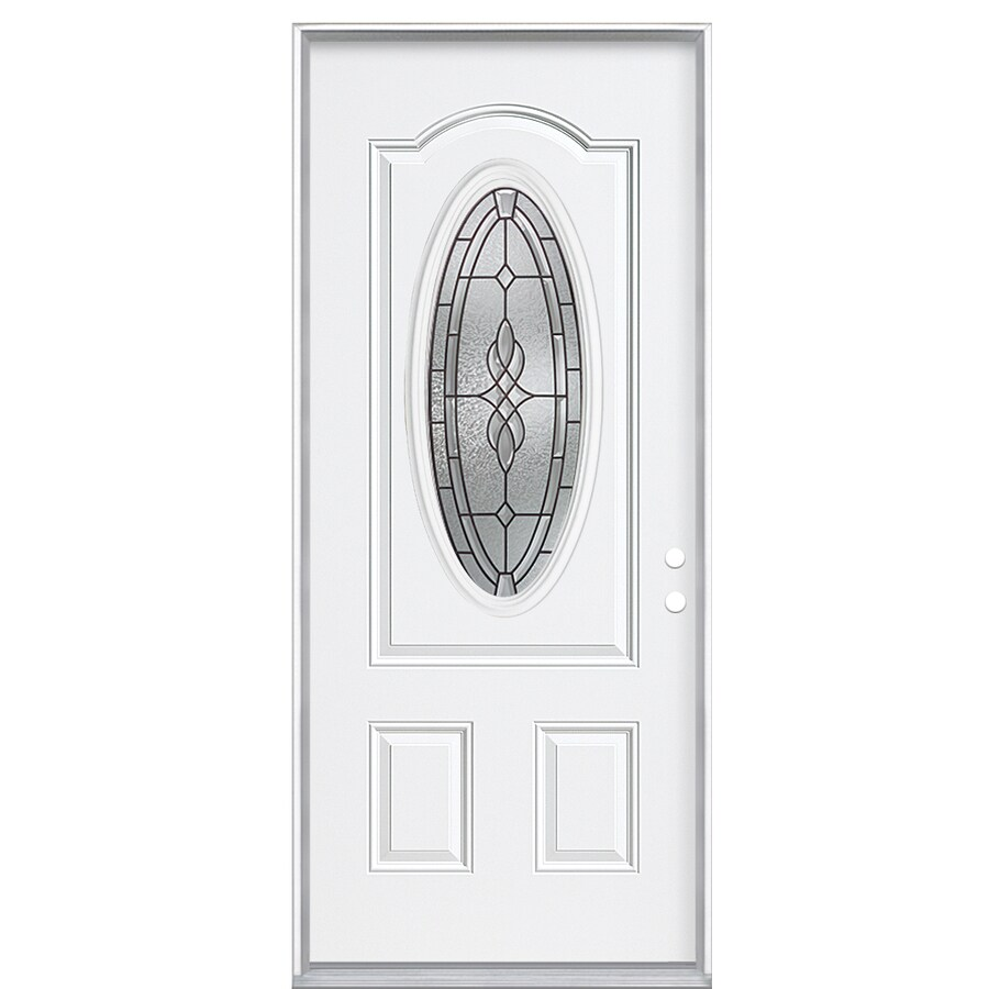 ReliaBilt Hampton Left-Hand Inswing Steel Primed Entry Door (Common: 36-in x 80-in; Actual: 37.5-in x 81.5-in)