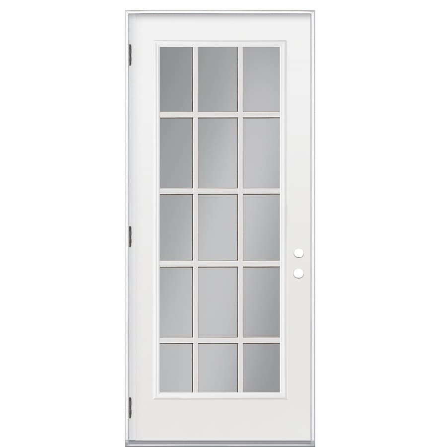 ReliaBilt Right Hand Outswing Primed Steel Prehung Entry Door With  Insulating Core (Common: