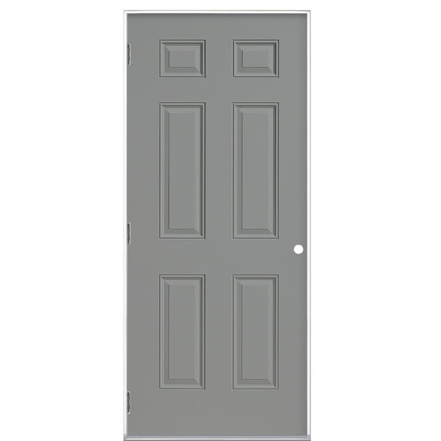 Shop ProSteel Right-Hand Outswing Steel Primed Entry Door (Common ...