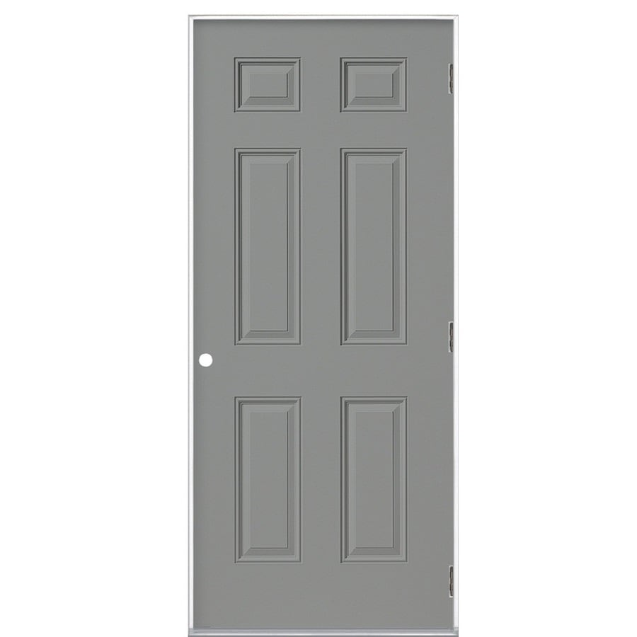 ProSteel Left-Hand Outswing Steel Primed Entry Door (Common: 32-in x 80-in; Actual: 33.5-in x 80.375-in)