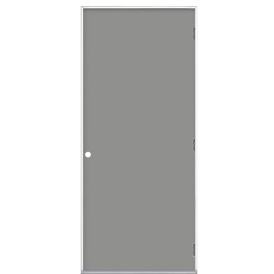 ProSteel Left Hand Outswing Primed Steel Prehung Entry Door With Insulating  Core (Common:
