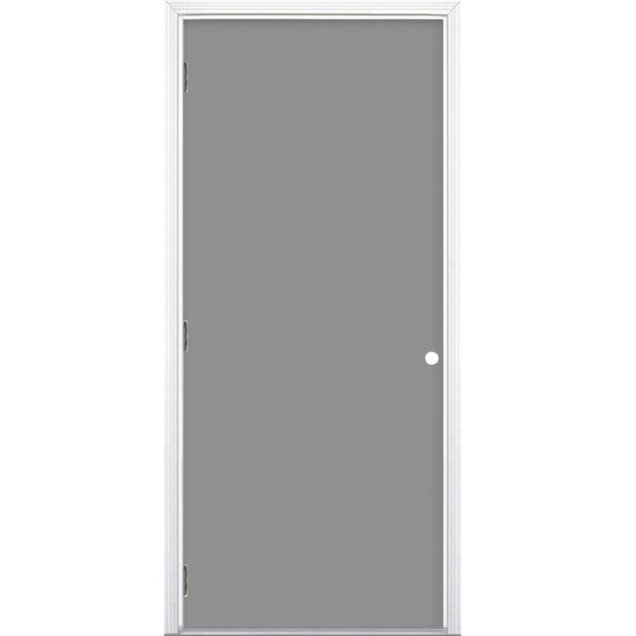 Shop Prosteel Right Hand Outswing Primed Steel Prehung Entry Door