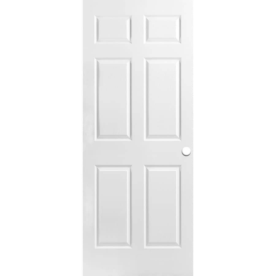 ReliaBilt Classics  6-panel Slab Interior Door (Common: 30-in X 78-in; Actual: 30-in x 78-in)