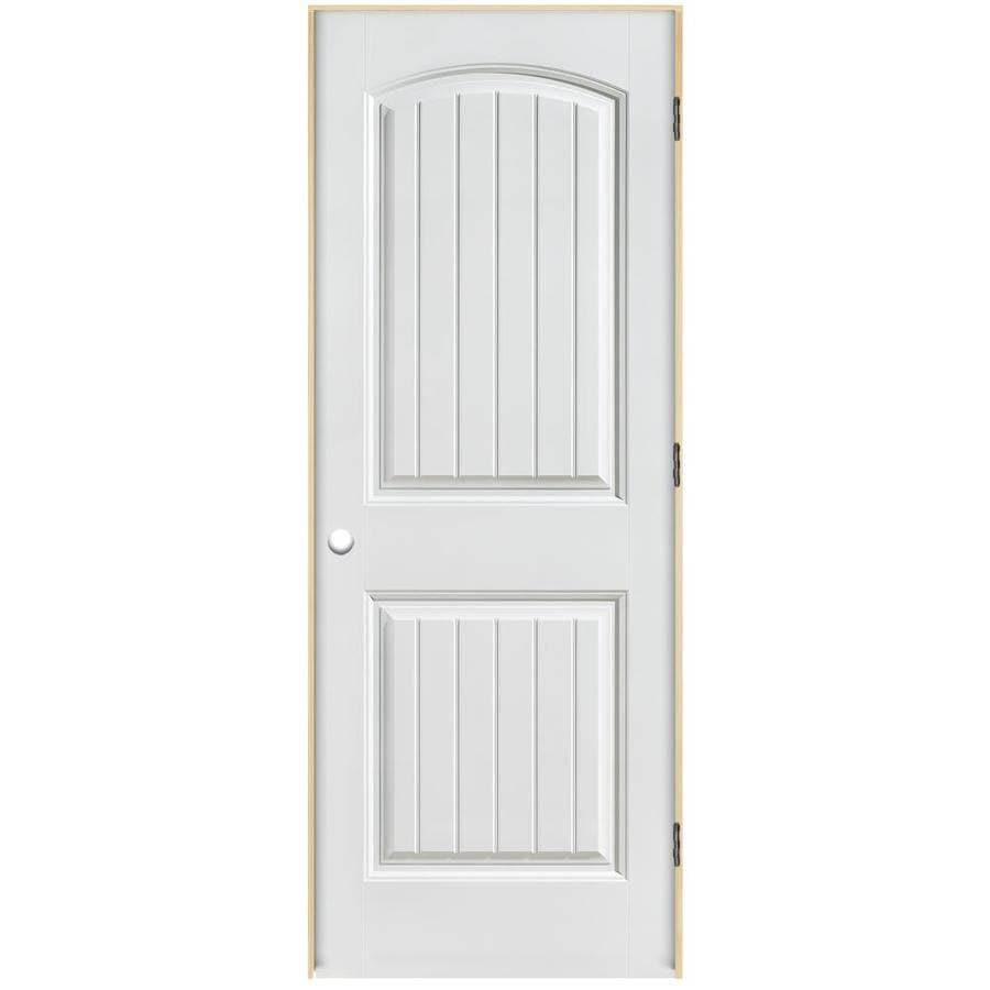 ReliaBilt Classics 2 Panel Round Top Plank Single Prehung Interior Door  (Common: 30