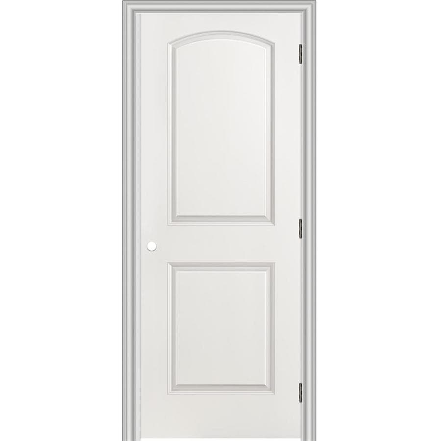 Shop Reliabilt Prehung Hollow Core 2 Panel Round Top Interior Door Common 32 In X 80 In