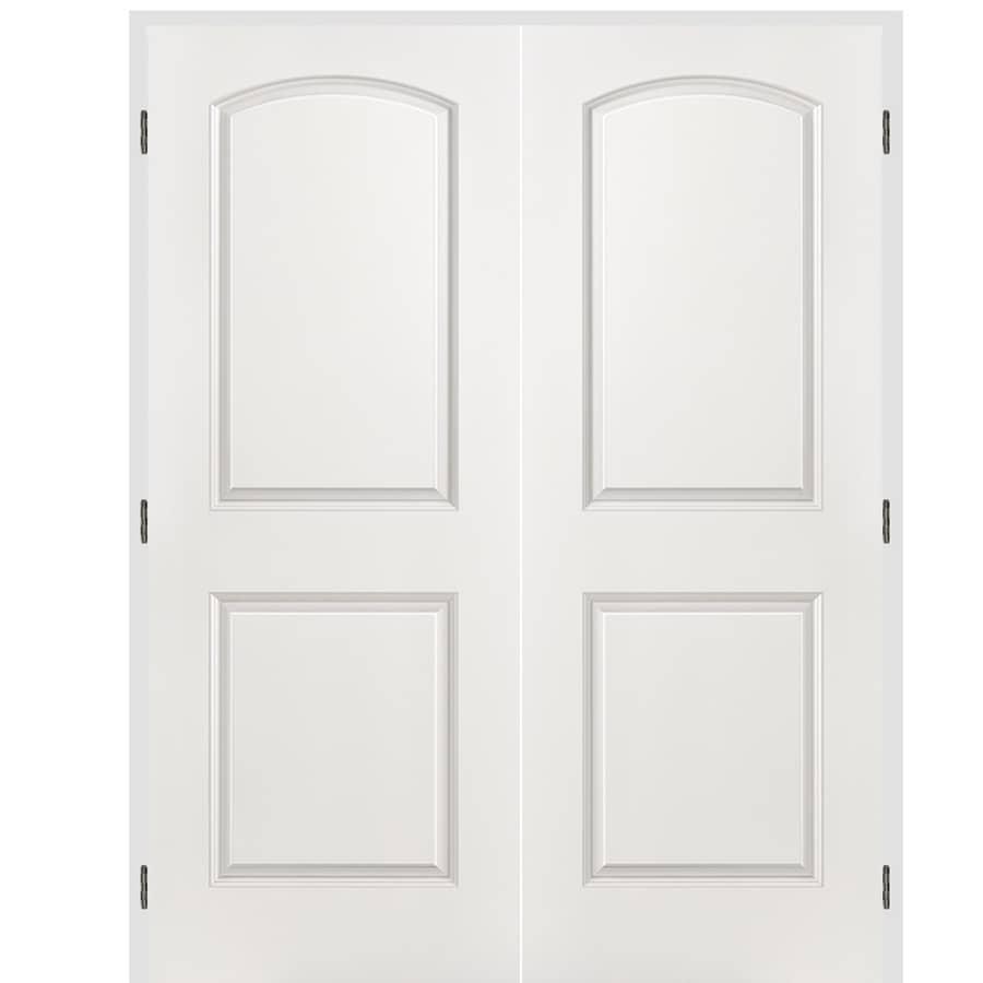 ReliaBilt Classics 2 Panel Round Top Slab Interior Door (Common: 48 In