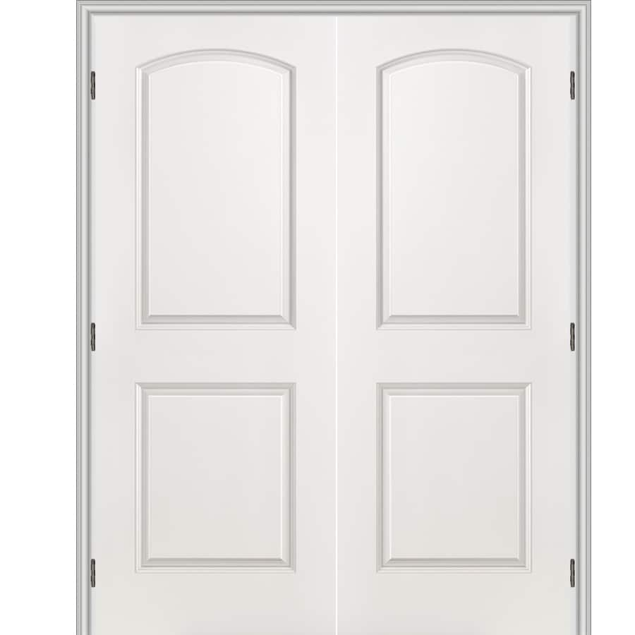Shop Reliabilt Primed 2 Panel Round Top Hollow Core Molded Composite Single Pre Hung Door
