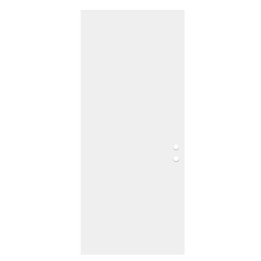 ReliaBilt Flush Insulating Core Right-Hand Inswing Primed Fiberglass Primed Prehung Entry Door (Common: 32-in x 80-in; Actual: 33.5-in x 81.5-in)