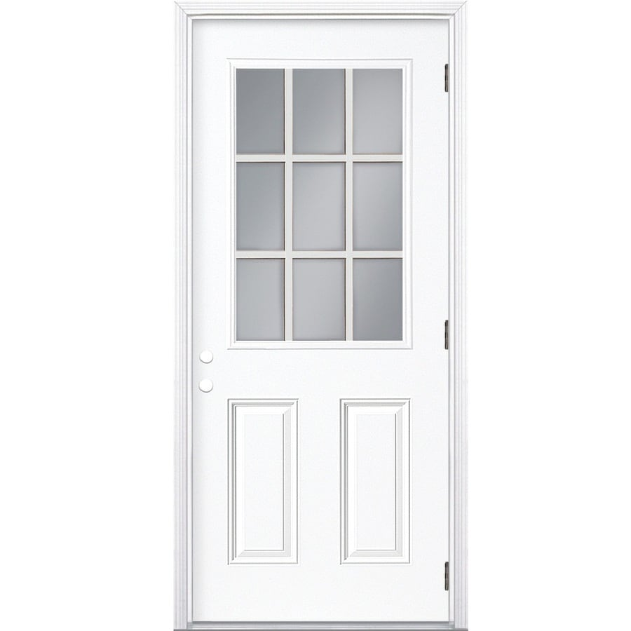 Genial ReliaBilt 2 Panel Insulating Core 9 Lite Left Hand Outswing Steel Primed  Prehung