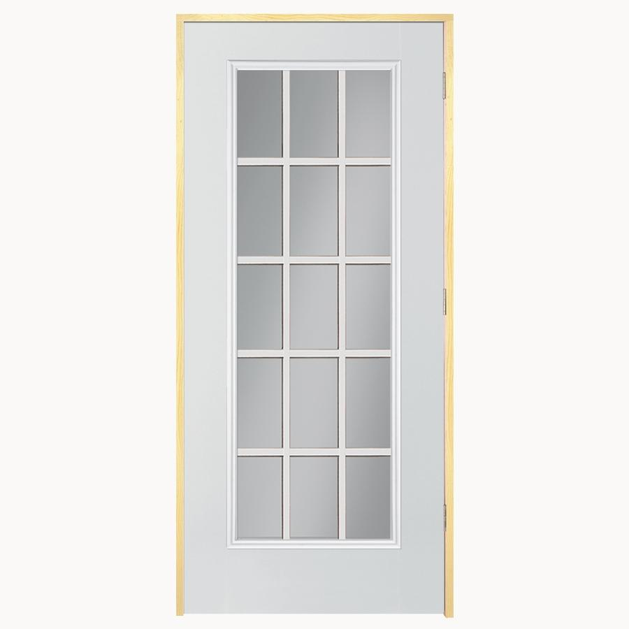 Shop Reliabilt Flush Insulating Core 15 Lite Left Hand Outswing Steel Primed Prehung Entry Door