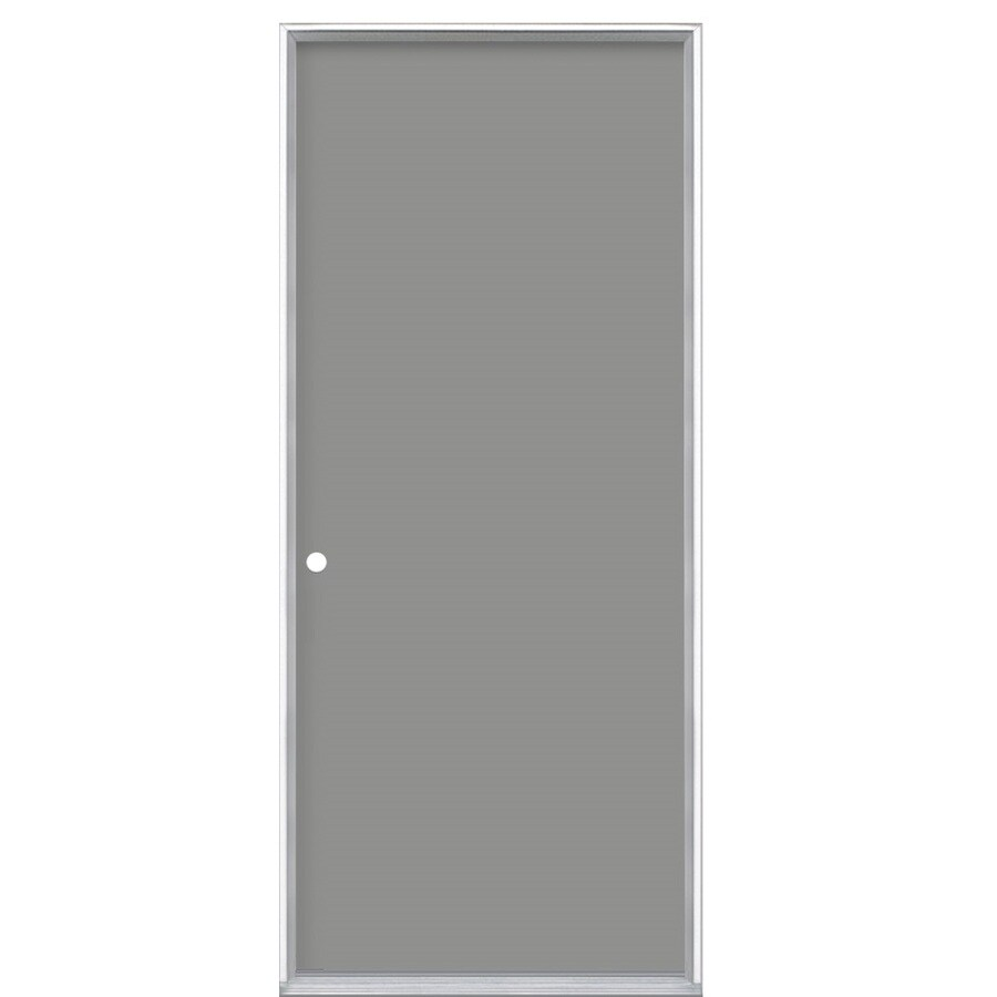 ProSteel Flush Insulating Core Right-Hand Inswing Steel Primed Prehung Entry Door (Common: 30-in x 80-in; Actual: 31.5000-in x 81.5000-in)