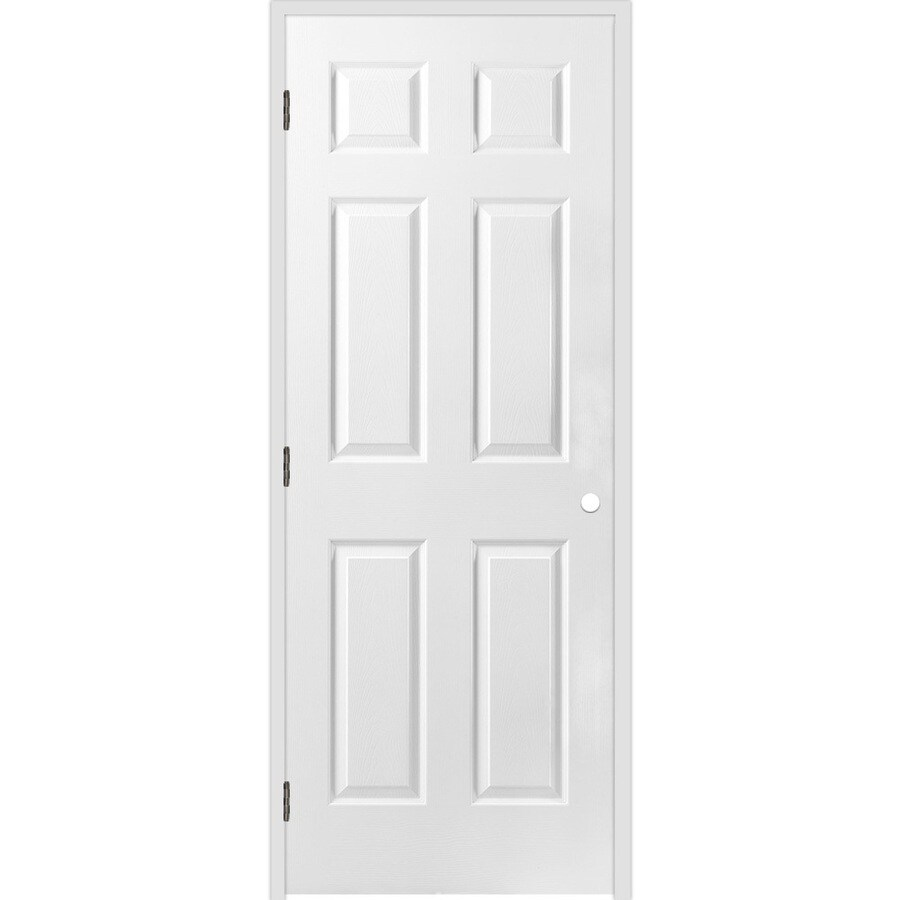 ReliaBilt Classics 6-panel Single Prehung Interior Door (Common: 24-in x 80-in; Actual: 25.5-in x 81.5-in)