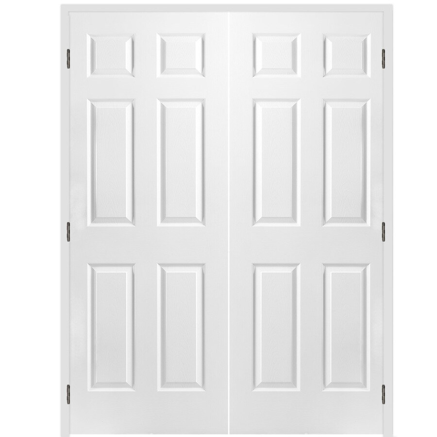 Masonite Classics 6 Panel Slab Interior Door (Common: 60 In X 80