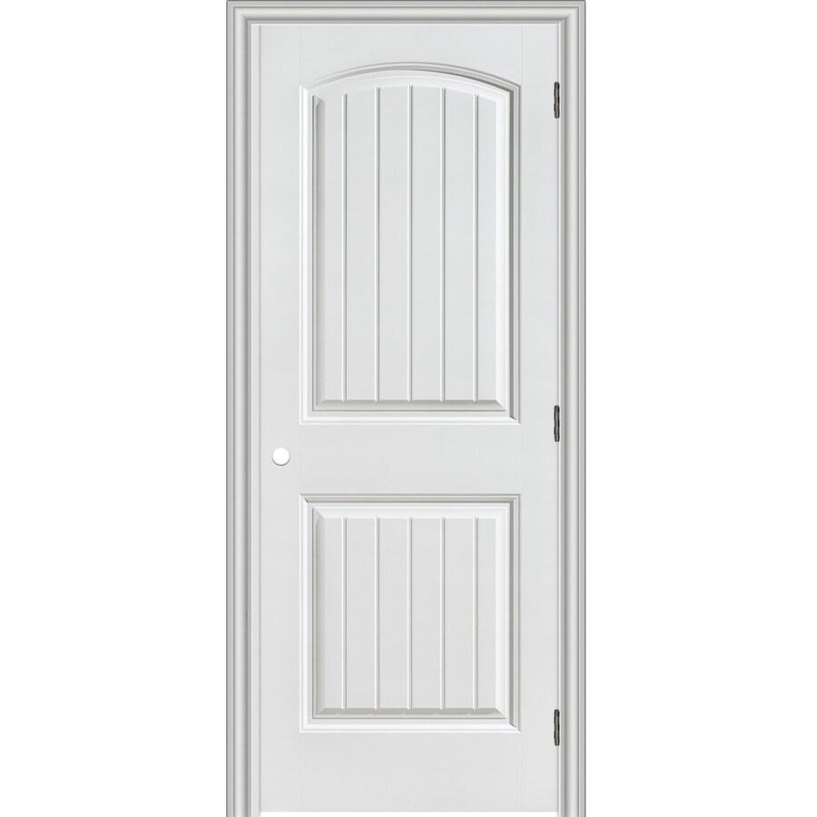 Reliabilt Clics 2 Panel Round Top Plank Single Prehung Interior Door Common 24 In X 80 Actual 25 5 81