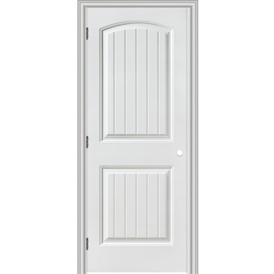 Charmant ReliaBilt Prehung Hollow Core 2 Panel Round Top Plank Interior Door  (Common: 30
