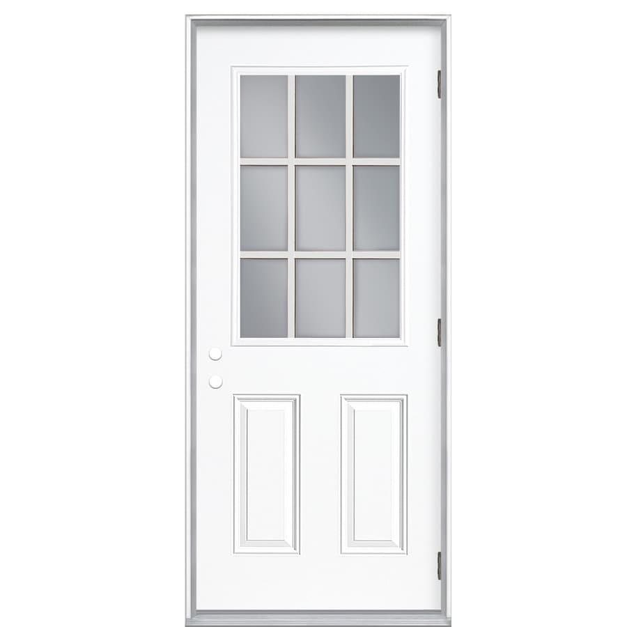 Shop ReliaBilt Left-Hand Outswing Steel Primed Entry Door (Common ...