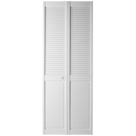 Reliabilt Clics White Louver Wood Pine Bifold Door Hardware Included Common 36 In