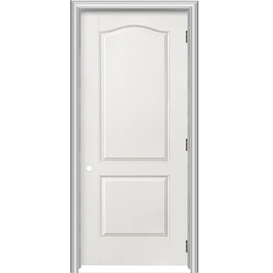 ReliaBilt Prehung Hollow Core 2 Panel Arch Top Interior Door (Common: 36
