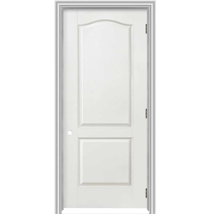 shop reliabilt prehung hollow core 2 panel arch top interior door common 24 in x 80 in actual