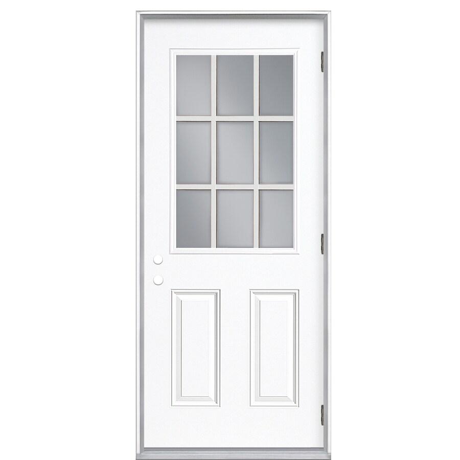 ReliaBilt 32-in Clear Outswing Fiberglass Entry Door