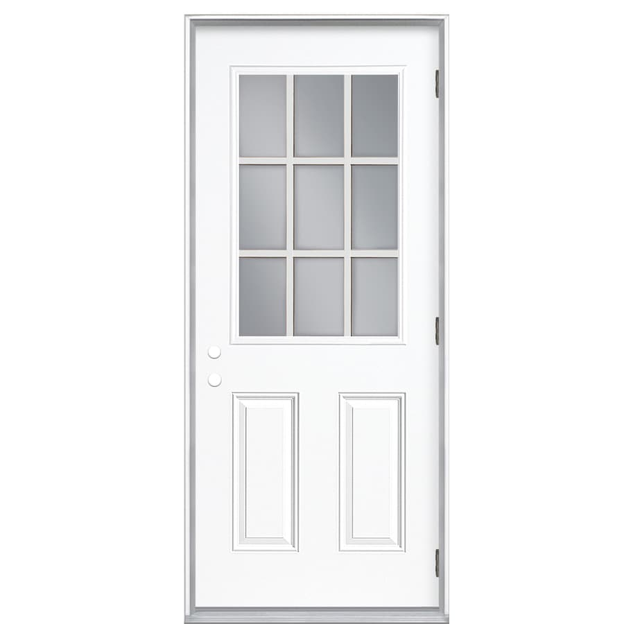 ReliaBilt 36-in Clear Outswing Fiberglass Entry Door