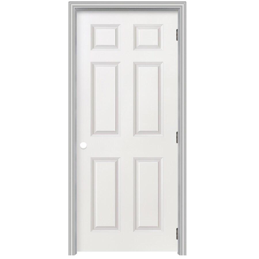Reliabilt 22 In X 80 6 Panel Hollow Textured Molded Composite Left Hand Interior Single Prehung Door